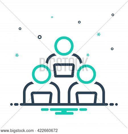 Mix Icon For Work-group Work Group Endeavor Workforce Performance Struggle Task Association Organiza