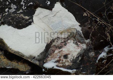 Granite Stones, Rocks Set Us Background. Big Granite Stones Boulders Of Various Forms. Stone For The