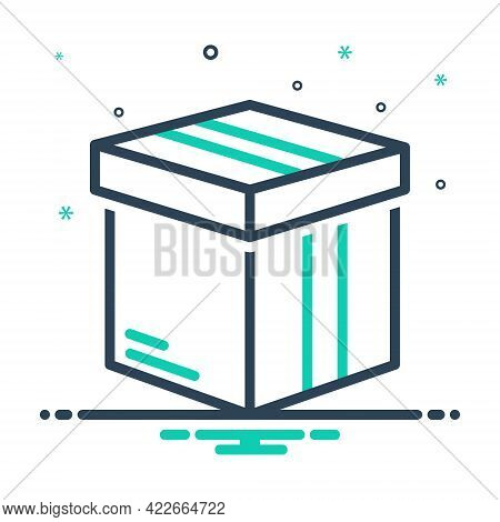 Mix Icon For Box Pack  Packing Parcel Shipping Container  Case