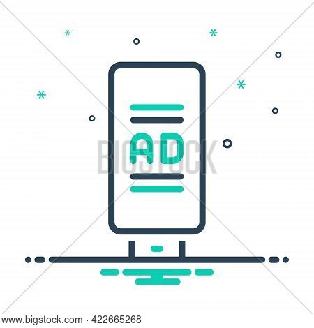 Mix Icon For Ad-board Ad Board  Poster Advertisement Banner Sign Billboard Advertising Flyer Signboa