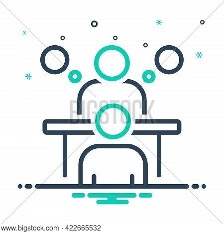 Mix Icon For Consultation Appointment Conference Deliberation Advice Counsel Rede Inference Meeting
