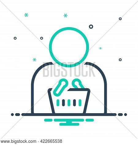 Mix Icon For Consumer User Purchaser Clientele Customer Client Patron Purchaser Regular-shopper