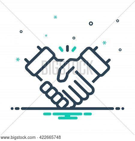 Mix Icon For Handshake Disagreement Partnership Collaboration Complicity Copartnership Teamwork Agre