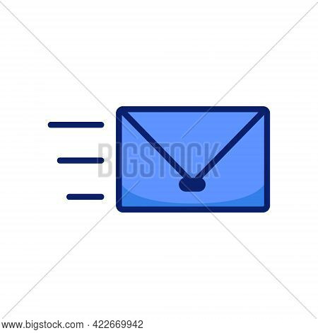 Quick Fast Send Email Mail Envelope Icon Sign Symbol Vector