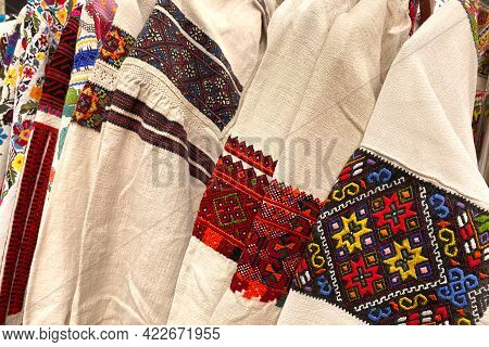 Different Ukrainian Vintage Clothes - Traditional Embroidered Shirts, Vyshyvanka. Secondhand Goods O