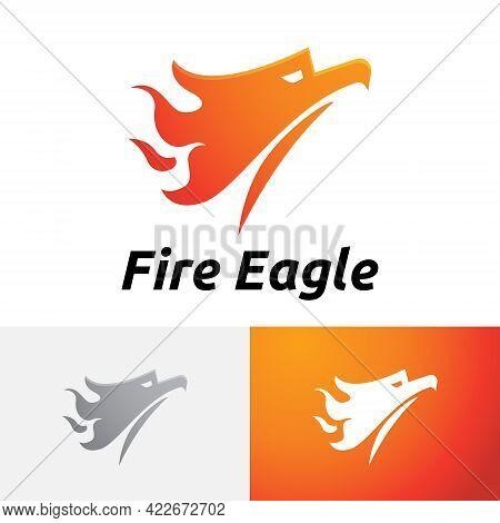 Fire Flame Eagle Falcon Phoenix Bird Flying Logo
