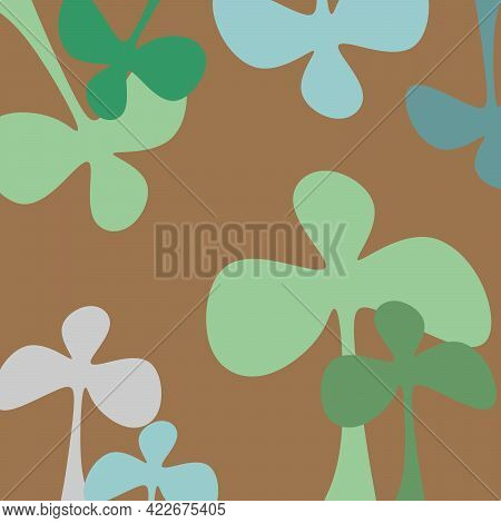 Floral Print And Background For Everything. The Poster Is Floral And Beautiful. Linear Drawing Of Co