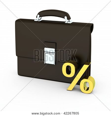 Business Briefcase With Percentage