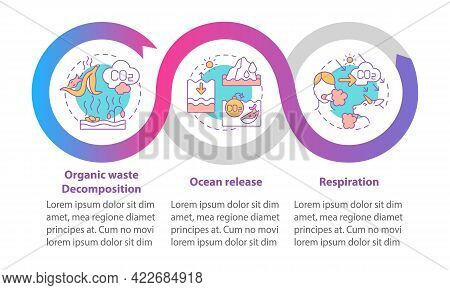 Natural Co2 Emissions Vector Infographic Template. Ocean Release Presentation Outline Design Element