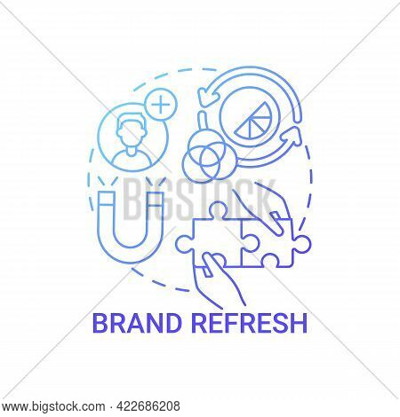 Brand Refresh Concept Icon. Brand Change Type Abstract Idea Thin Line Illustration. Updating Style,