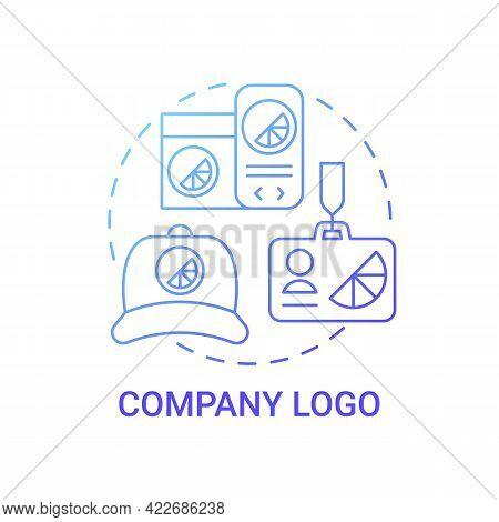 Company Logo Concept Icon. Corporate Branding Abstract Idea Thin Line Illustration. Achieving Brand