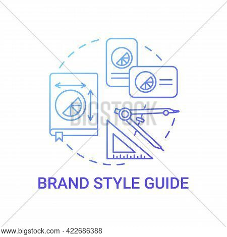 Brand Style Guide Concept Icon. Business Branding Abstract Idea Thin Line Illustration. Creating Des