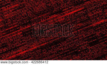 Abstract Running From Left To Right Random Lines Of A Computer Code. Animation. Complex Description