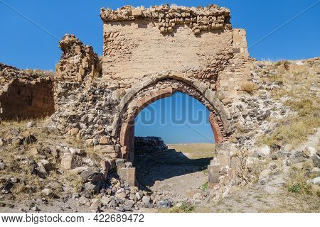 Remains Of City Gates & Walls In Ancient Medieval City Ani, Near Kars, Turkey. City Was Founded In 5