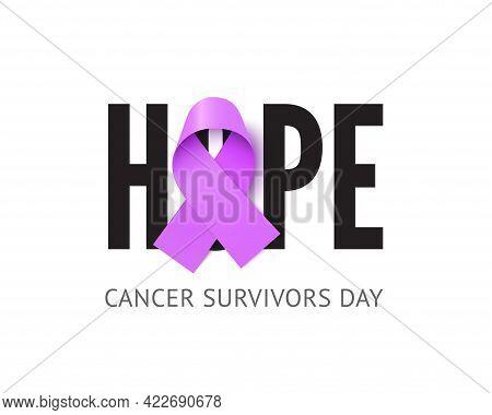 Cancer Survivors Awareness Day Banner Vector Template