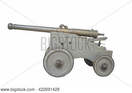 Spanish 16th Century Bronze Cannon On Carriage. Made By Remigy De Halut, Kings Gunfounder Royal At M