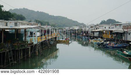 Tai O, Hong Kong 27 March 2021: Hong Kong fishing village