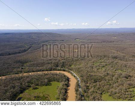 Aerial View Of Ropotamo River At Arkutino Region, Burgas Region, Bulgaria