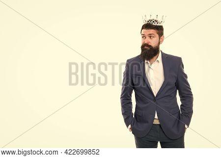 Best Worker. Handsome Worker. Glory Seeking Man. Power And Triumph. Business King. Businessman Wear