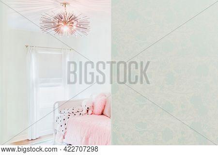 Feminine living room interior design