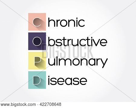Copd - Chronic Obstructive Pulmonary Disease Acronym, Medical Concept Background