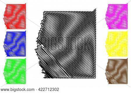 Grand County, State Of Utah (u.s. County, United States Of America, Usa, U.s., Us) Map Vector Illust