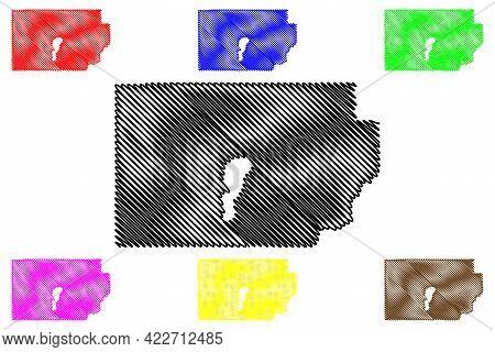 Millard County, State Of Utah (u.s. County, United States Of America, Usa, U.s., Us) Map Vector Illu