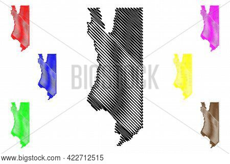 Rich County, State Of Utah (u.s. County, United States Of America, Usa, U.s., Us) Map Vector Illustr