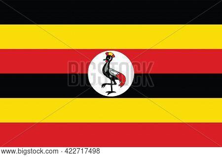 National Uganda Flag, Official Colors And Proportion Correctly. National Uganda Flag.