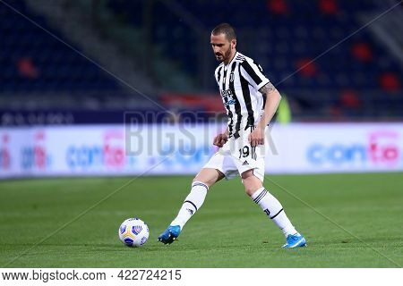 Bologna, Italy. 23th May 2021 . Leonardo Bonucci Of Juventus Fc  During The Serie A Match Between Bo