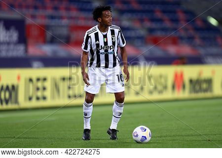 Bologna, Italy. 23th May 2021 . Juan Cuadrado Of Juventus Fc  During The Serie A Match Between Bolog