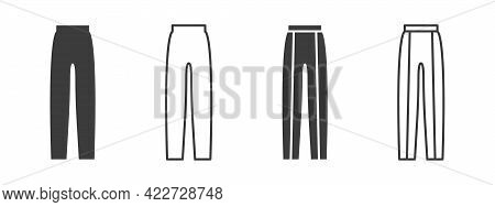 Pants Icons. Women's Pants Signs. Clothing Symbol Concept. Vector Illustration