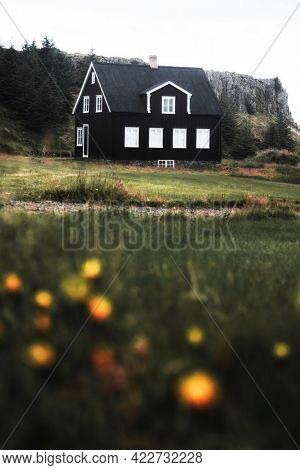 Traditional Icelandic house on the East coast of Iceland