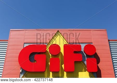Villefranche, France - June 18, 2017: Gifi Logo On A Wall. Gifi Is A French Discount Chain With Near
