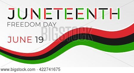 Juneteenth Freedom Day Banner. African-american Independence Day, June 19, 1865. Vector Illustration