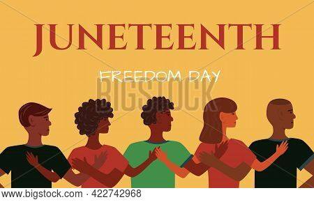 Juneteenth Independence Day. Annual American Holiday, Celebrated In June 19. African-american Histor