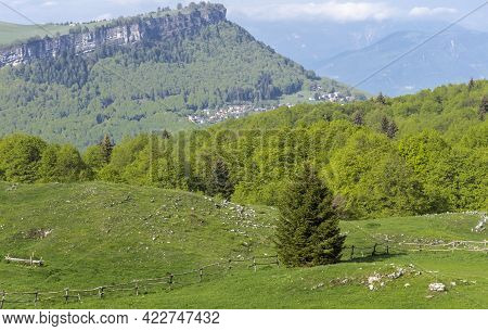 A Typical Mountain Landscape On Monte Baldo In The Province Of Verona.