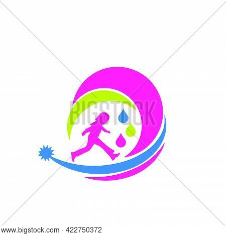 Colorful Dream Of Children Logo And Vector Icon