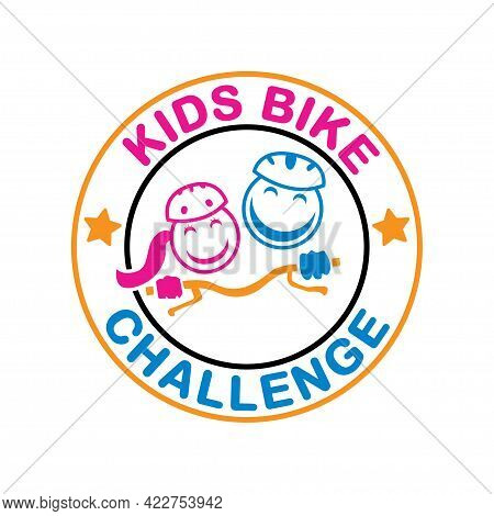 Illustration Vector Graphic Of Kids Bike Challenge
