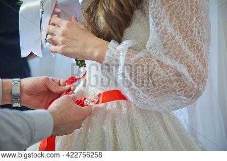 Bridesmaids Lace Bride . Close The Ribbon On The Belly The Bride . Close The Ribbon On The Belly Of