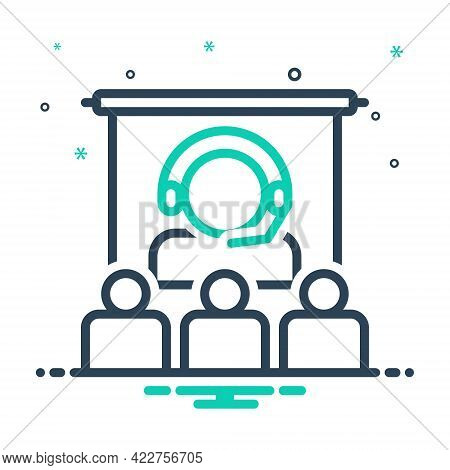 Mix Icon For Consultation-withaudience Conference Gathering Convention Communication Video-call Oper