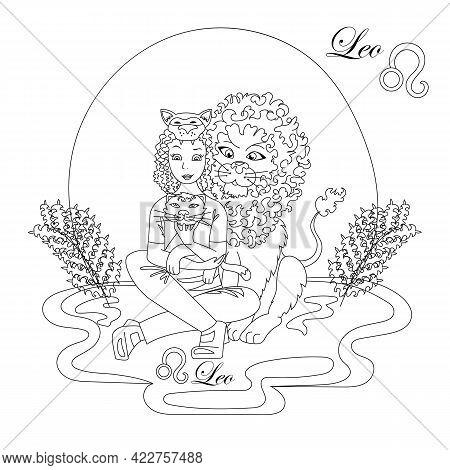 Leo Zodiac Sign As A Beautiful Girl