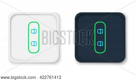 Line Snowboard Icon Isolated On White Background. Snowboarding Board Icon. Extreme Sport. Sport Equi