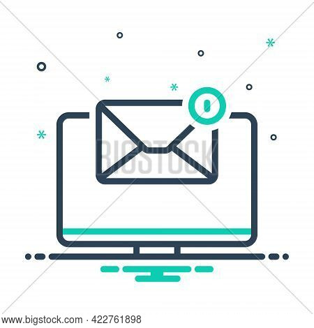 Mix Icon For Email-symbol-on-monitor-screen Apprise Enlighten Indicate Notification Alerting Digital
