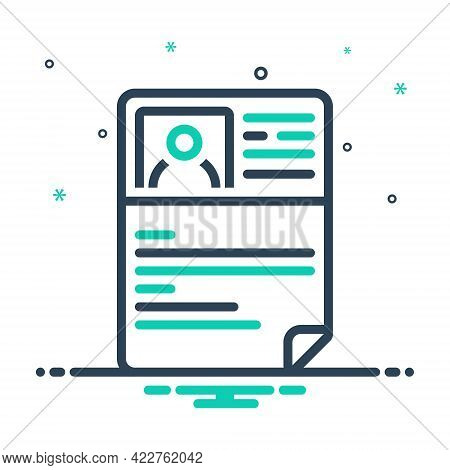 Mix Icon For Resume Document Profile Unemployment Application Summary Detail Expansion Elaboration R