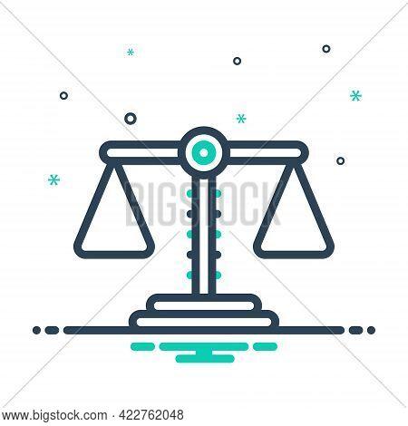 Mix Icon For Balance Equilibrium Equilibration Poise Judgment Comparison Scale