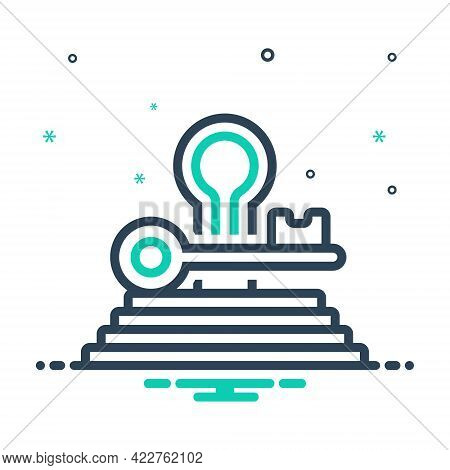 Mix Icon For Key-to-success Key Success Opportunity Achievement Prosperity Solution
