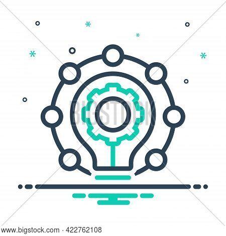 Mix Icon For Innovation Modernization Novelty  Newness Novation Recency Creativity Change Renaiscenc