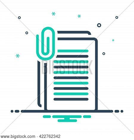 Mix Icon For Document Sheet Application Archive Agreement Interface Folder File Clip