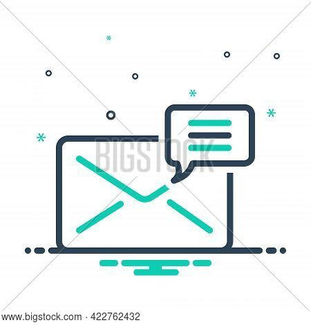 Mix Icon For Mail Correspondence Message Envelope Postage Newsletter Receive Spam Communication